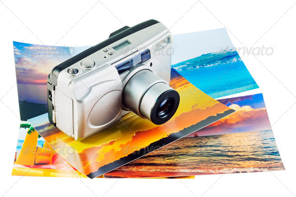 camera is on a photo - Stock Photo - Images