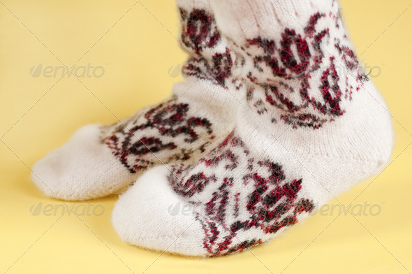 wool socks - Stock Photo - Images