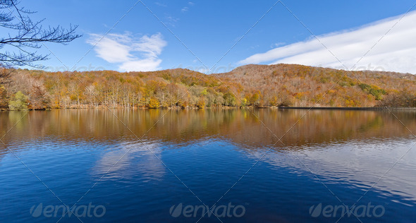 Lake Santa Fe, Montseny. Spain - Stock Photo - Images