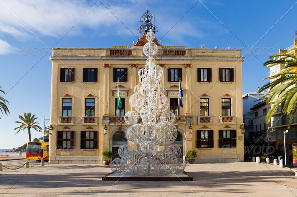 Lloret de Mar town hall - Stock Photo - Images