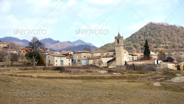 Santa Maria de Besora - Stock Photo - Images