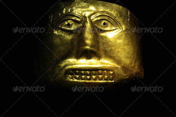 Golden mask - Stock Photo - Images