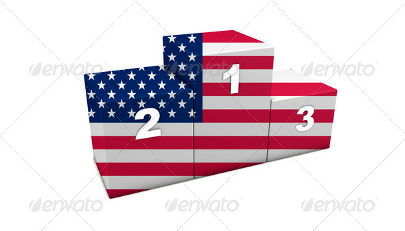USA Podium - Stock Photo - Images