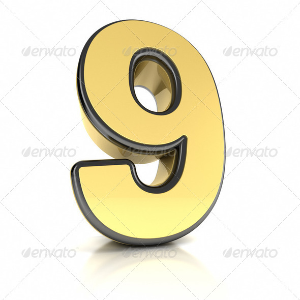 Number Nine - Stock Photo - Images