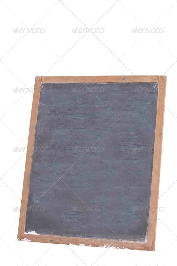 Blank blackboard - Stock Photo - Images