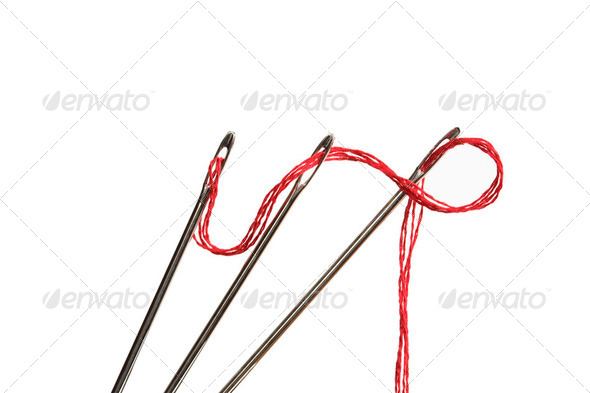 Needles And Thread - Stock Photo - Images