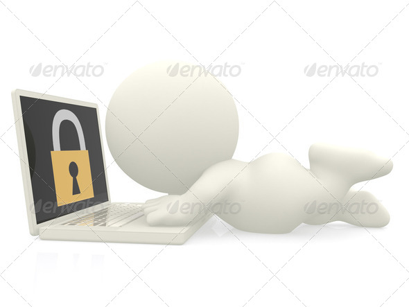 3D online security - Stock Photo - Images