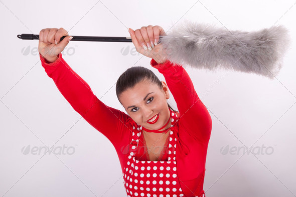 Young attractive housewife - Stock Photo - Images