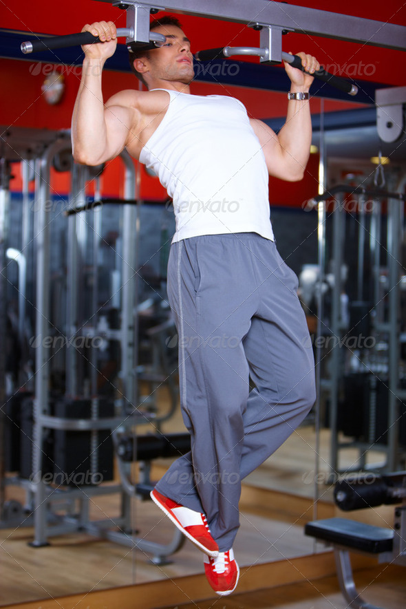 Man at the gym - Stock Photo - Images