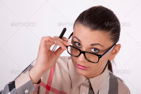 Young attractive business woman - Stock Photo - Images