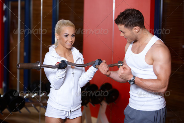 Couple at the gym - Stock Photo - Images