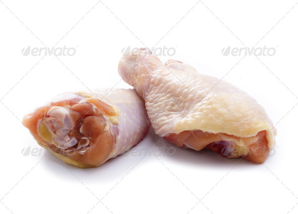Raw chicken leg - Stock Photo - Images