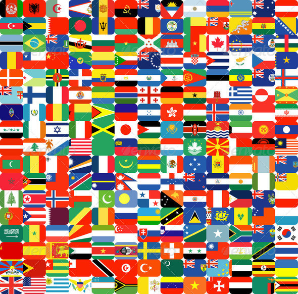 Complete set of Flags  - Stock Photo - Images