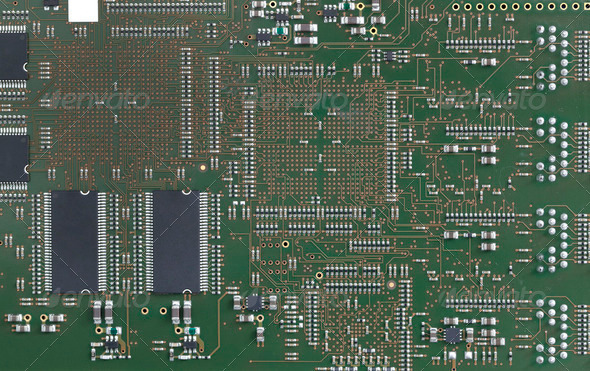 Electronic circuit board - Stock Photo - Images