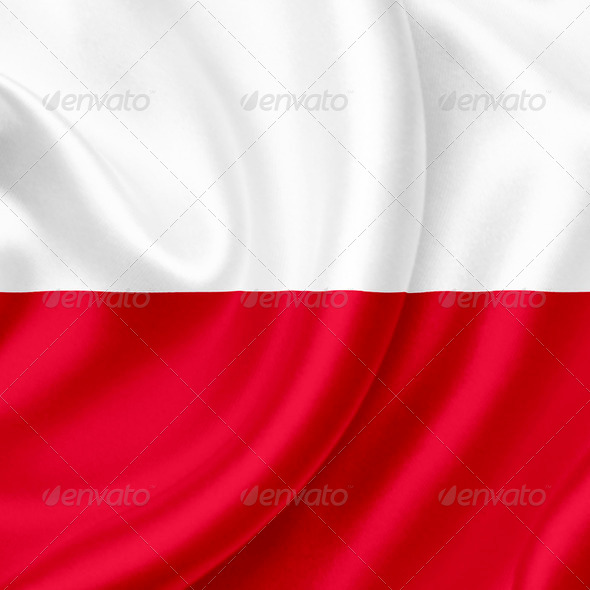 Poland waving flag - Stock Photo - Images