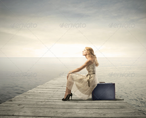 Travelling lady - Stock Photo - Images