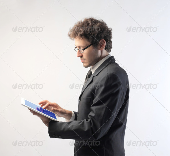Hi-tech for business - Stock Photo - Images