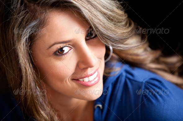 Gorgeous woman smiling - Stock Photo - Images