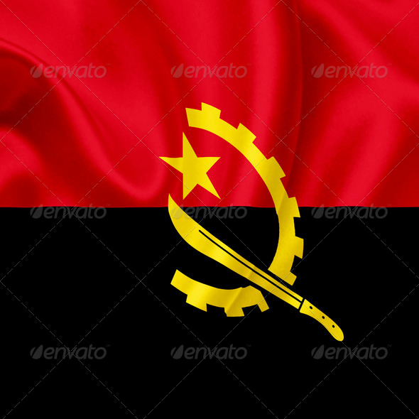 Angola waving flag - Stock Photo - Images