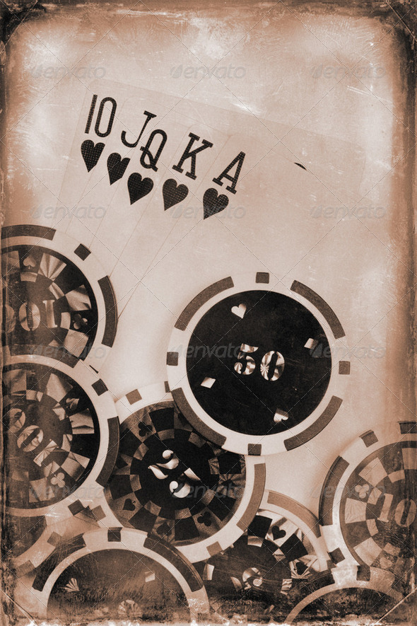 vintage poker concept - Stock Photo - Images