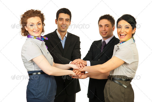 United cheerful business people team - Stock Photo - Images