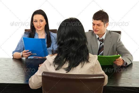 Interview people - Stock Photo - Images