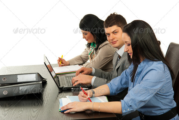 Business people working in office - Stock Photo - Images
