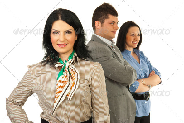 Business woman leader - Stock Photo - Images