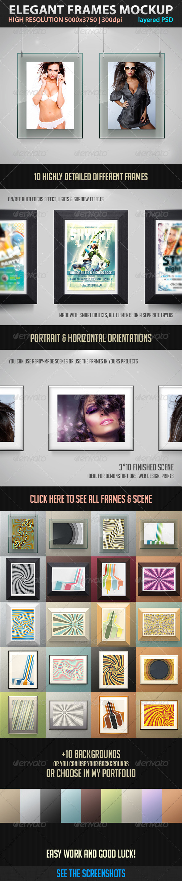 Elegant Frames Mockup - Miscellaneous Displays