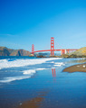 The Golden Gate Bridge in San Francisco with beautiful blue ocea - PhotoDune Item for Sale