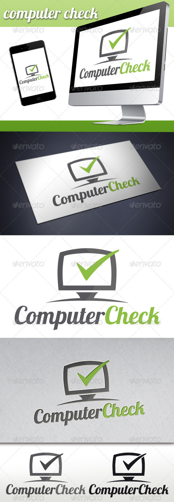 GraphicRiver Pc Tick Check Mark Logo 3333679