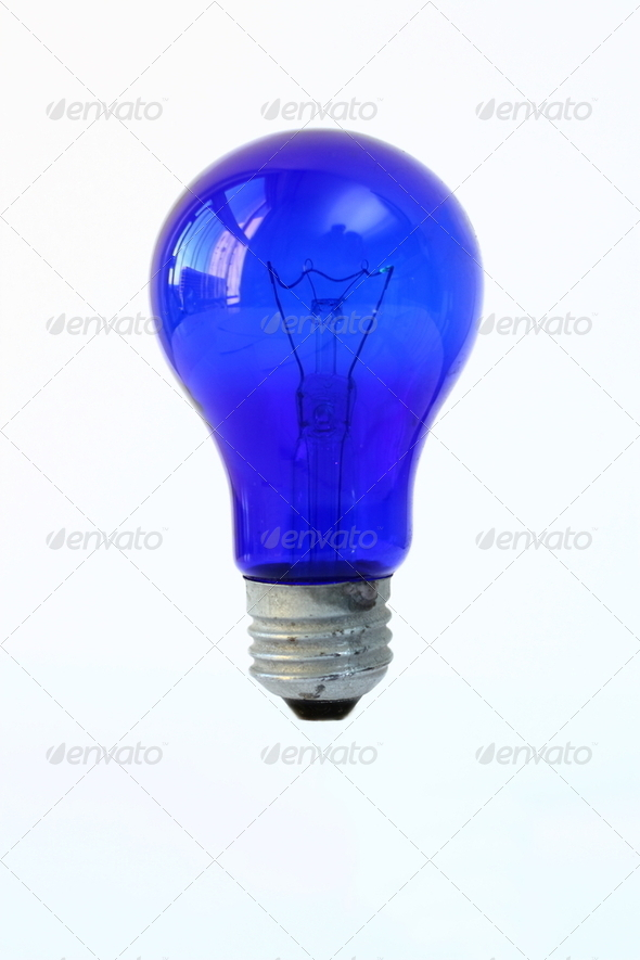 Blue bulb 2 - Stock Photo - Images