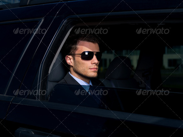 Outdoor Businessman - Stock Photo - Images