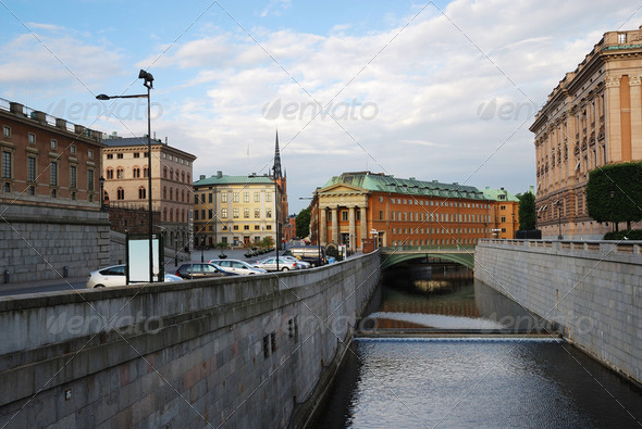 Old center of Stockholm. - Stock Photo - Images