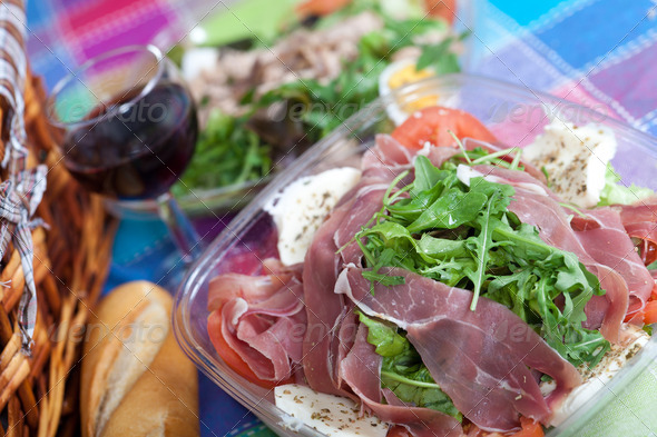 Parma ham salad - Stock Photo - Images