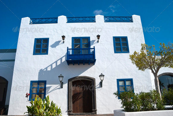Old Canary Island House - Stock Photo - Images