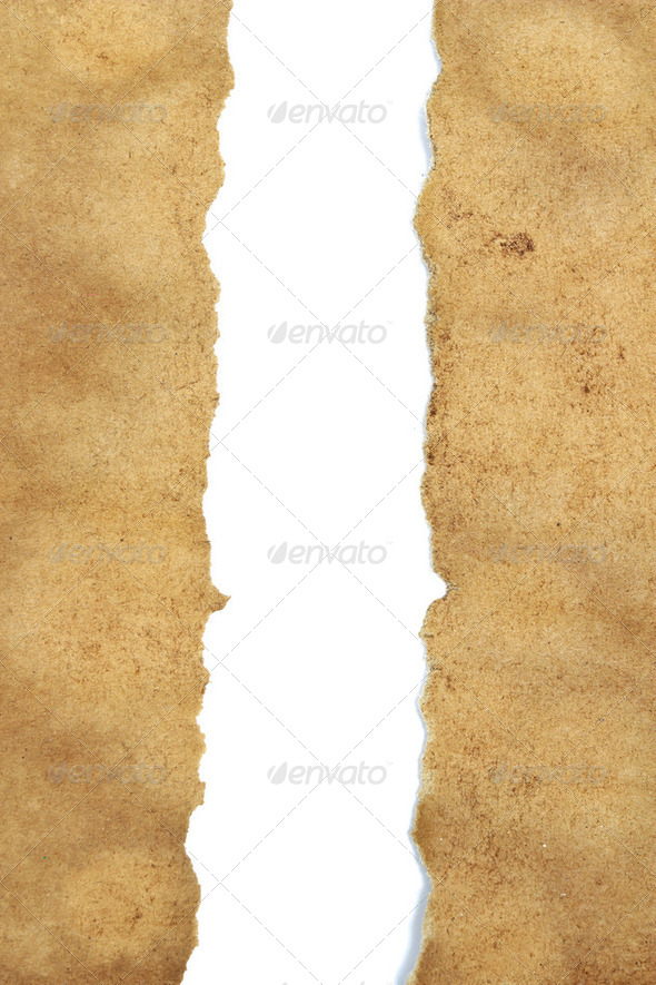 vintage torn paper with copyspace for your text - Stock Photo - Images