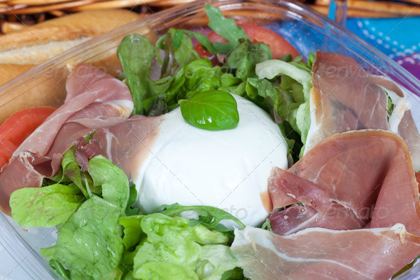 Bufala mozzarella salad - Stock Photo - Images
