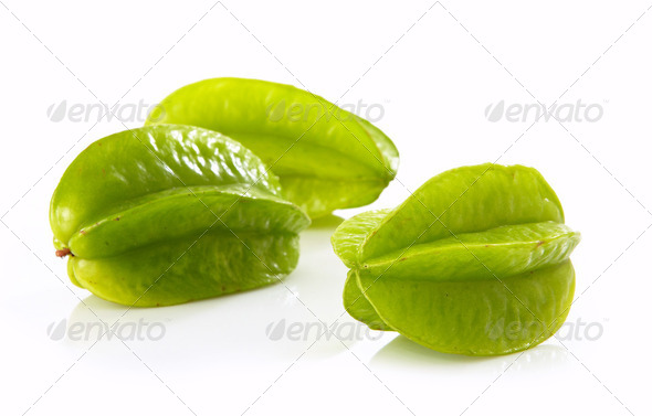 fresh green starfruit - Stock Photo - Images