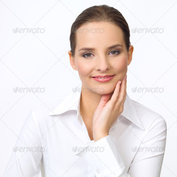 Cute Business Woman - Stock Photo - Images