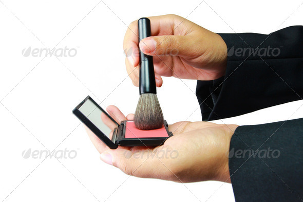 Cosmetics in the hand - Stock Photo - Images