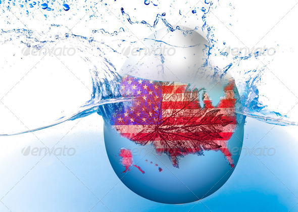 USA Map Flag on Easter Egg - Stock Photo - Images