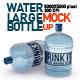 Large Water Bottles Mock Up - GraphicRiver Item for Sale