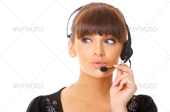 Secretary online - Stock Photo - Images