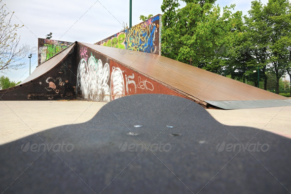 skateboard park - Stock Photo - Images