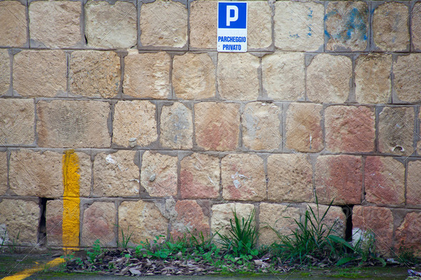 Wall of parking - Stock Photo - Images