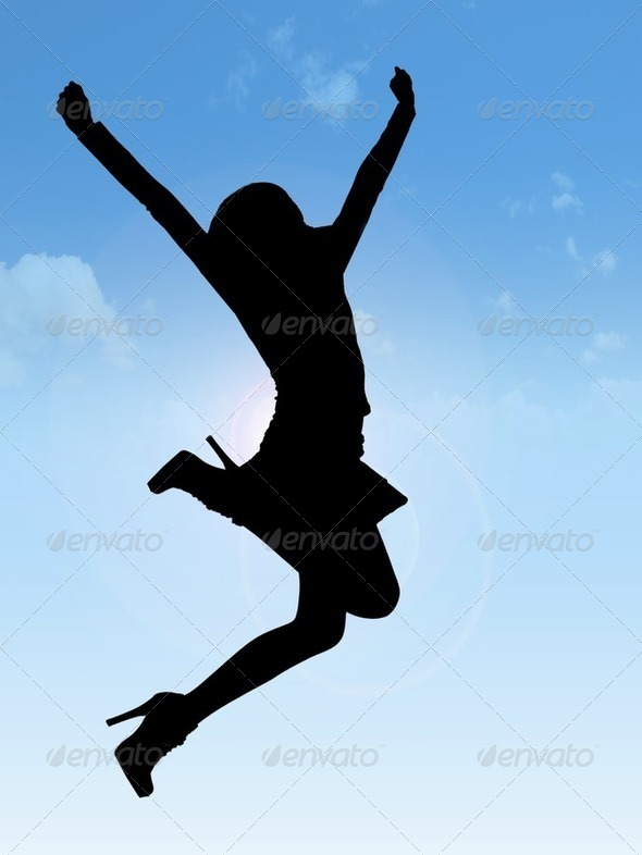 Woman jumping - Stock Photo - Images