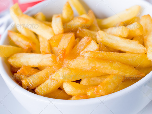 Golden French fries - Stock Photo - Images