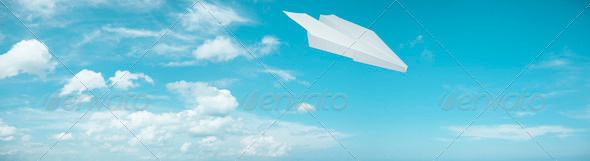 Paper plane - Stock Photo - Images