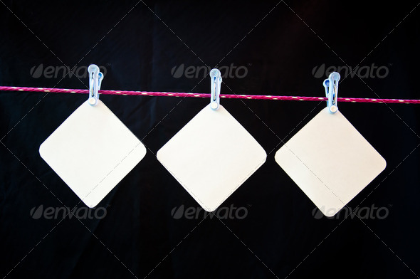 Hang paper - Stock Photo - Images
